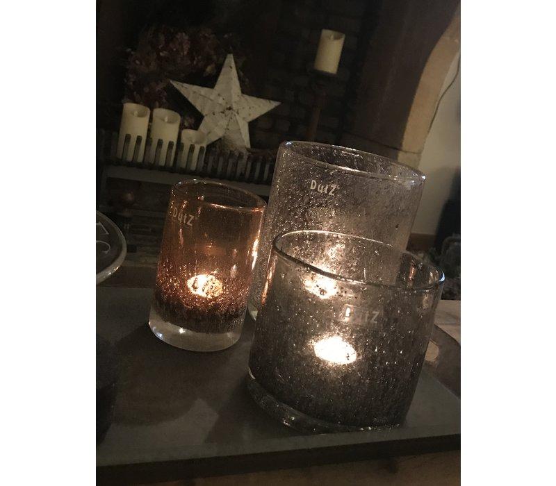 DUTZ cilinder windlicht grey sparkle 14 cm