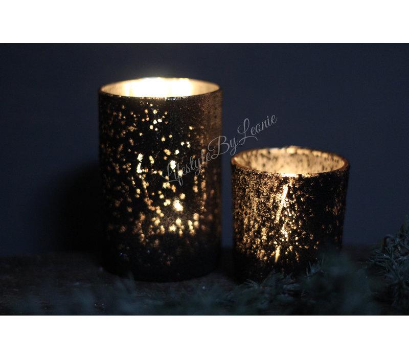 Windlicht black shinny 12 cm