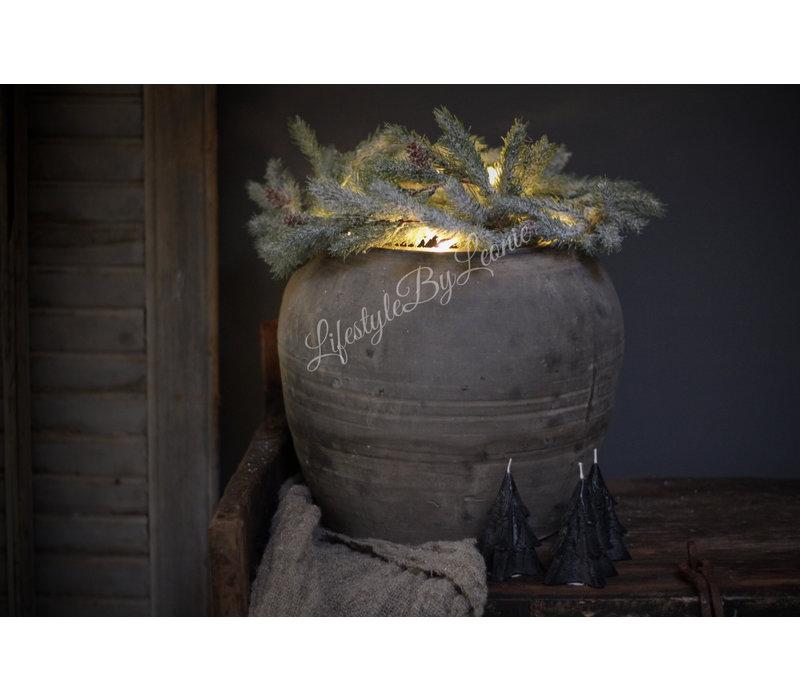 Pine guirlande met LED lampjes 150 cm