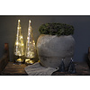 Glazen kerstboom met LED lampjes Misty 34 cm