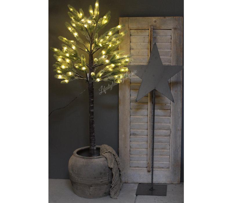 Namaak sobere kerstboom met LED lampjes Half 120 cm