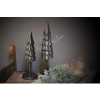 Zwart metalen Pine tree - maat S