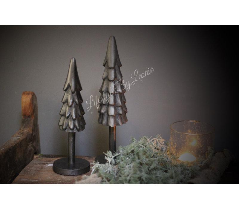 Zwart metalen Pine tree - maat M