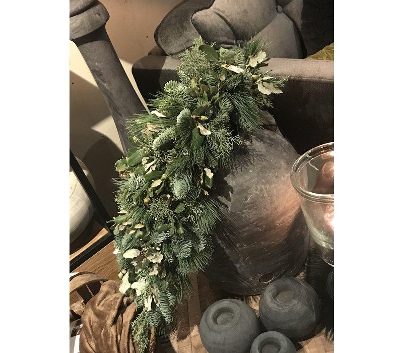 Lange groene kersttoef