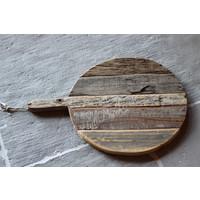 Oud houten ronde tapas plank