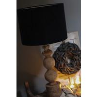 Velvet cilinder lampenkap Black 40 cm