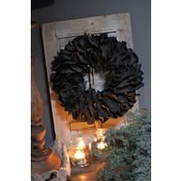 Krans Palm petal black 40 cm