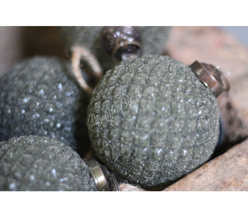 Glazen kerstbal Lili diamond 10 cm