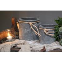 Brynxz Majestic set van 2 potten met touw 15 cm