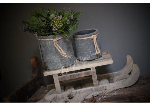 Brynxz Brynxz Majestic set van 2 potten met touw 15 cm