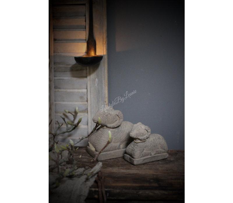 Liggende stenen ram - maat M