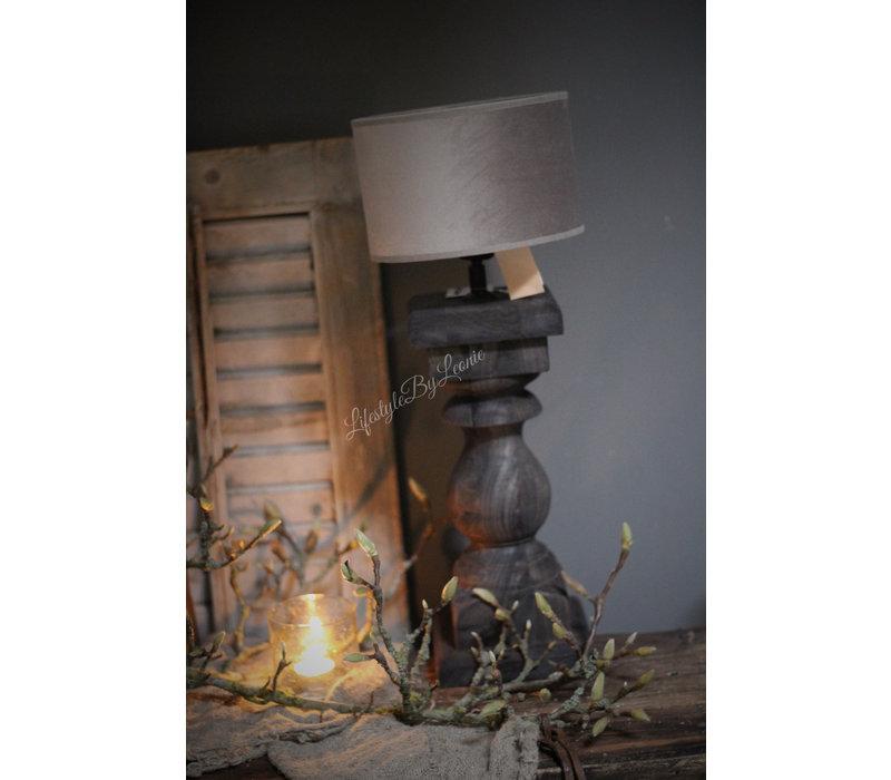 Velvet cilinder lampenkap Klei