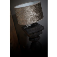 Velvet cilinder lampenkap Croco silver olive 20 cm