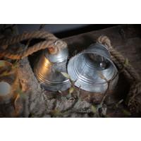 Zinken hangklok zilver 14 cm