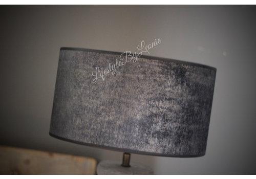 Velvet cilinder lampenkap Black chic 30 cm
