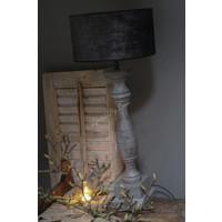 Velvet cilinder lampenkap Black chic 25 cm