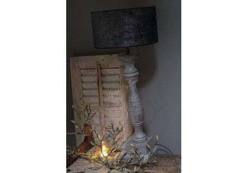 Velvet cilinder lampenkap Black chic 20cm