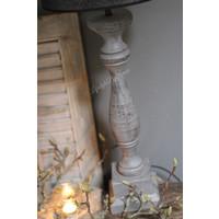 Baluster lampvoet grey wash 62 cm