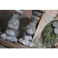 Baluster kandelaar cement 35 cm