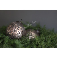 Sobere kerstbal Crinkle champagne 8 cm