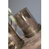 Theelicht metall + onderzetter Brown