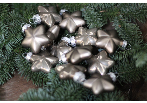 Doosje kerst ornamenten Stars fossil