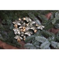 Doosje kerst ornamenten Stars granite green