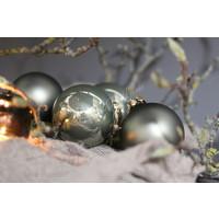 Glazen kerstbal Granite green mat 8 cm