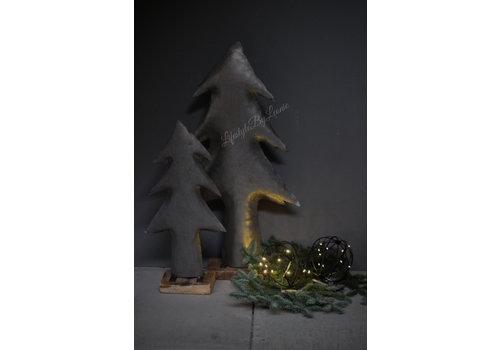 Smalle hoge zinken kerstboom op voet 80 cm
