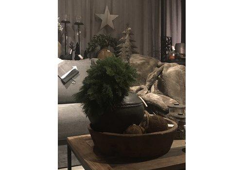 Kersttoef met kiefer, nobilis en LED verlichting