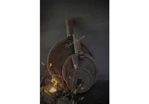 Brynxz Brynxz plate met handvat Old brown - maat L