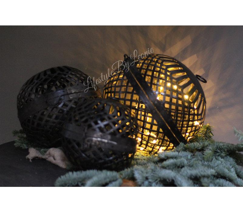 Zwarte smeedijzeren draadbal - maat XL