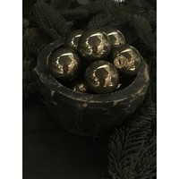 Glazen kerstbal Fossil glans 4 cm