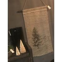 Shabby linnen wanddoek Tree