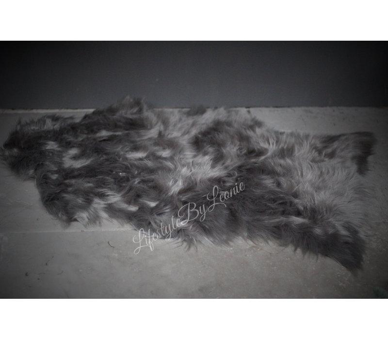 Namaak schapenvacht Lichtgrijs 90 cm