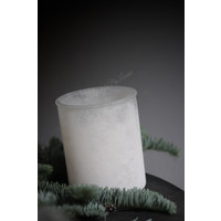 Glazen waxinelichthouder Snowy white 15 cm