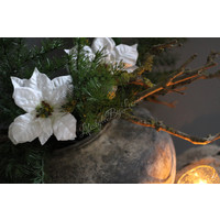 Namaak witte kerstster 35 cm