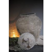 Unieke stenen kruik met deksel Kama 38 cm