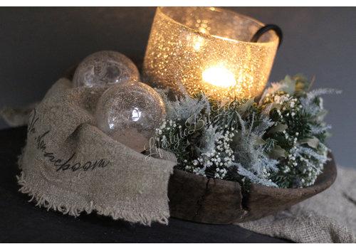 Dutz DUTZ kerstbal helder bubbels 8 cm