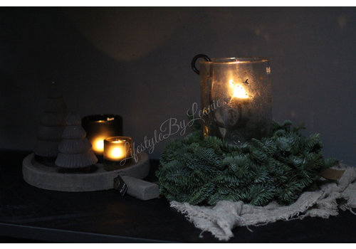 Sober glazen kerstboompje - maat S