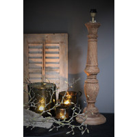 Hoge baluster lampvoet naturel / bruin 70 cm