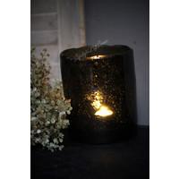 Brynxz windlicht steenslag black 17 cm