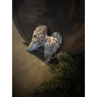 Grijs stenen vleugels 10 cm