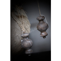 Brown wash klos / ornament 15 cm