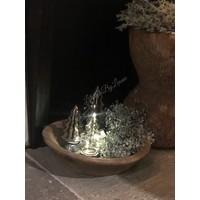 Glazen LED boom Smoke black 20 cm