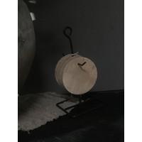 Ronde houten onderzetters aan rekje 21,5 cm