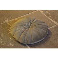 Rond velvet kussen Flower tea green 40 cm