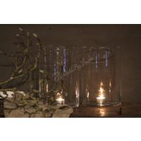 Helder glazen cilinder windlicht Cut out 27 cm
