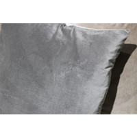 Velvet kussen linnen look Grey 60 cm