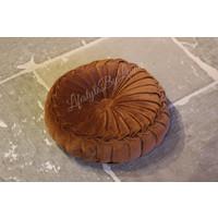 Rond velvet kussen Henna brown 40 cm